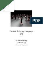 Custom Scripting Language 101