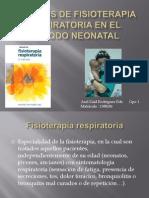 tecnicas de fisioterapia respiratoria en el periodo neonatal