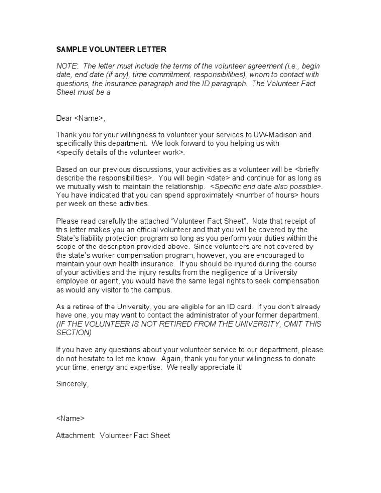 Thank You Letter Samples For Volunteer Work from imgv2-2-f.scribdassets.com