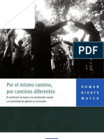 HRW - 2009 - El activismo en torno a la orientación sexual y la identidad de género en el mundo -  lgbt0509spwebwcover