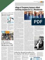 College of Surgeons honours oldest practicing surgeon Dr. B.J. Masakorala