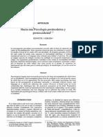 Hacia Una Psicologia Postmoderna y Post Occidental