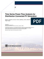 SAND Time Series Power Flow Analysis for Distribution Connected PV Generation