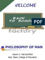 Philosophy of Man Ppt