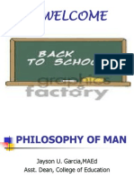 Philosophy of Man Ppt