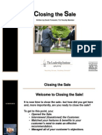 Closing the Sale Without Animation- TLI101