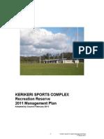 Web Version Kerikeri Sports Complex Reserve Management Plan