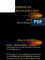 PPT on Wi-fi, WLAN, UMTS