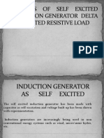 ANALYSIS OF SELF EXCITED INDUCTION GENERATOR  DELTA CONNECTED RESISTIVE LOAD