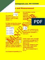 Units and Measurement Xl Question Paper