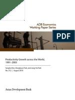 Productivity Growth across the World, 1991-2003