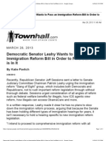 Democratic Senator Leahy Wants to Pass an Immigration Reform Bill in Order to Find Out What is in It - Google Groups