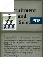Recuritment & Selection Ppt