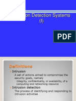 462intrusion detection system61838 Intrusion Detection Systems I