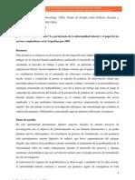 Frega - Ganancia o Supervivencia. La Persistencia de La Informalidad Laboral y El Papel de Los Sectores Empleadores en La Argentina Pos 2003