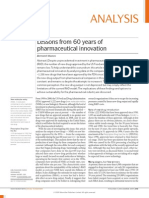 Lessons From 60 Years of Pharmaceutical Innovation Nature Munos