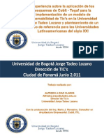 Experiencia de Aplicacion de Los Esquemas COBIT- ToGAF Modelo de Gobernabilidad TICs Afredo_Diaz