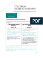 Techniques d'apprentissage du vocabulaire