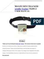 Xexun GPS Portable Tracker TK201-2 User Manual