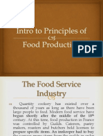 WEEK 1 INTRO TO PRINCIPLES OF FOOD PRODUCTION