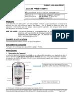 25-PREL-450-0020 PROC - Utilisation du Glycomètre de NOVA