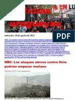 Noticias Uruguayas miércoles 28 de agosto del 2013