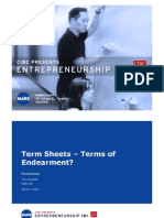 Term Sheets - Terms of Endearment