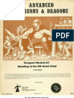 g1 Steading of the Hill Giant Chief Tsr 9016