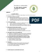 2007 Biologie Etapa Nationala Clasa a Xi-A Teorie Xi