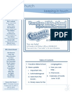 Newsletter - June 14, 2009