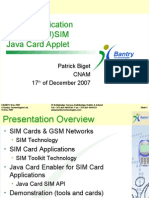 Mobile Application Based on (U)SIM Java Card Applet Patrick Biget