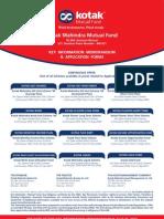 Kotak Debt Mutual Funds Application Form ARN-49611 EUIN