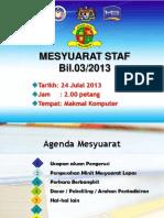 Mesyuarat Staf SKBL 03 2013