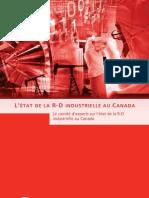 L'état de la R-D industrielle au Canada