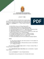 Acta  Junta Municipal de Distrito Norte Julio 2013