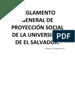 Reglamento General de Proyección Social de la Universidad de El Salvador