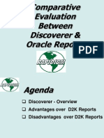 Discoverer 2000 vs Oracle Reports V2