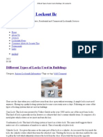 Different Types of Locks Used in Buildings _ Mr Lockout Llc