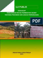 Uji Publik Terhadap Rancangan Revisi Permentan 26/2007 Tentang Pemberian Izin Usaha Perkebunan