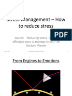 Stress Management - How to Reduce Stress - June 13