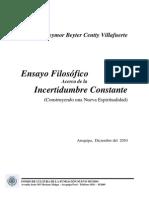 Dbc Villafuerte - Incertidumbre Constante - Construyendo Una Nueva Espiritualidad - 78 Pag