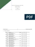 2014 horarios