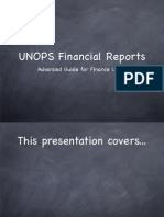 UNOPS Financial Reports - Advanced Guide for Finance Users