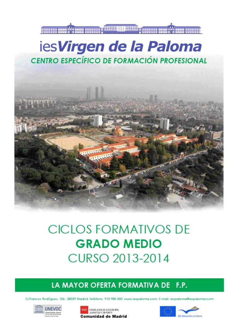 Ciclos Formativos De Grado Medio Oferta 2013 14 Instituto
