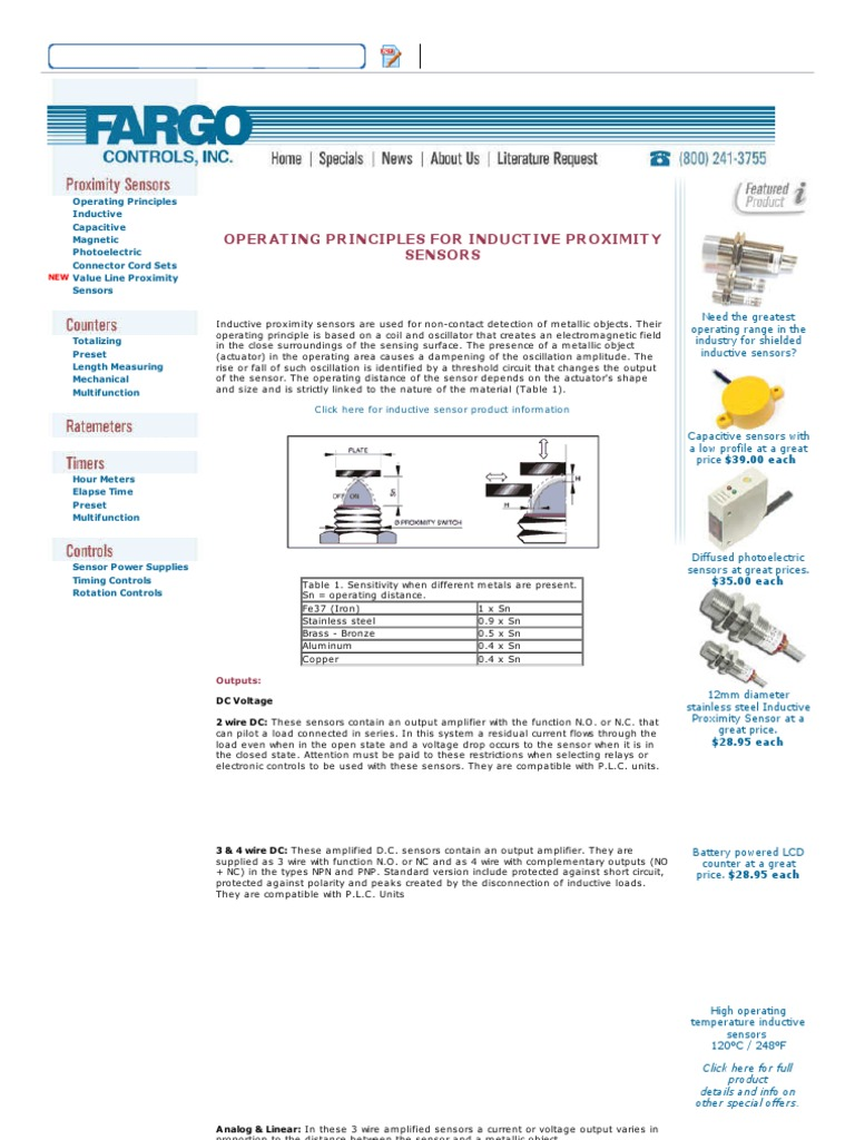 Inductive Sensor Operating Principles | Electrical Components | Electric  Power