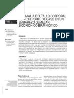 ANOMALÍA DEL TALLO CORPORAL
