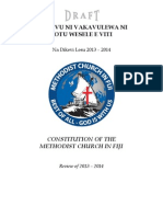 Draft of  Methodist Church in Fiji Revised Constitution (2013-2014)