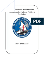 Methodist Church in Fiji Draft Revised Policies and Regulations Document