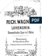 Richard Wagner - Lohengrin, For Piano Only