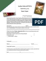 Order Sheet for Susan Cooper